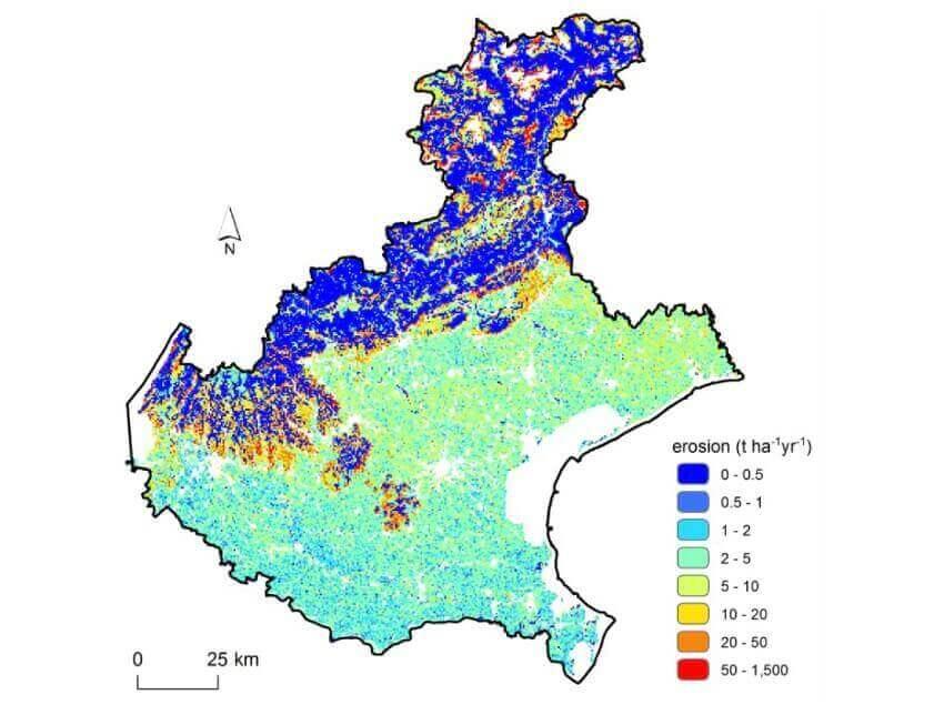 Erosione suoli Veneto Soilution System
