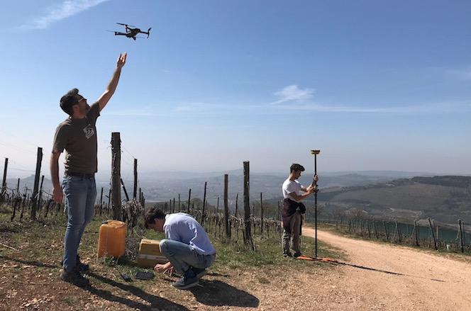 Rilievo con drone erosione dei suoli Soave Verona