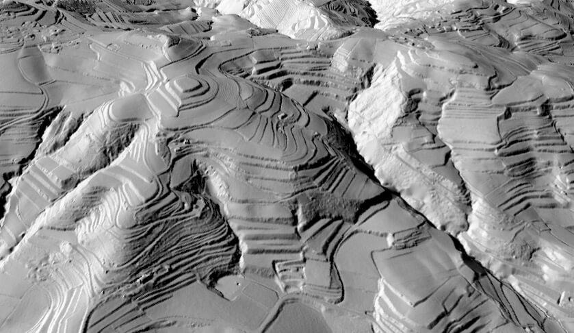 Modello tridimensionale area terrazzata