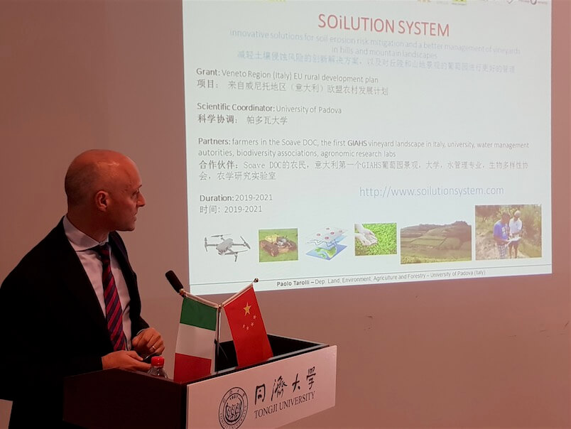 Paolo Tarolli presenta Soilution Soave in Cina