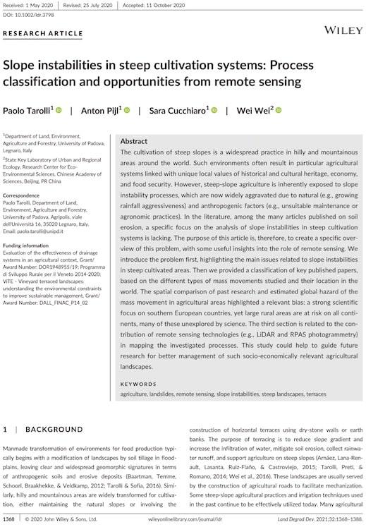 Pubblicazione Soilution System Land Degradation and Development
