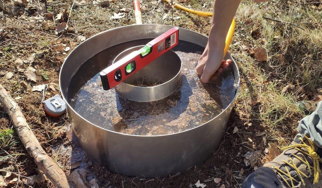 infiltrometro a doppio anello per erosione suoli