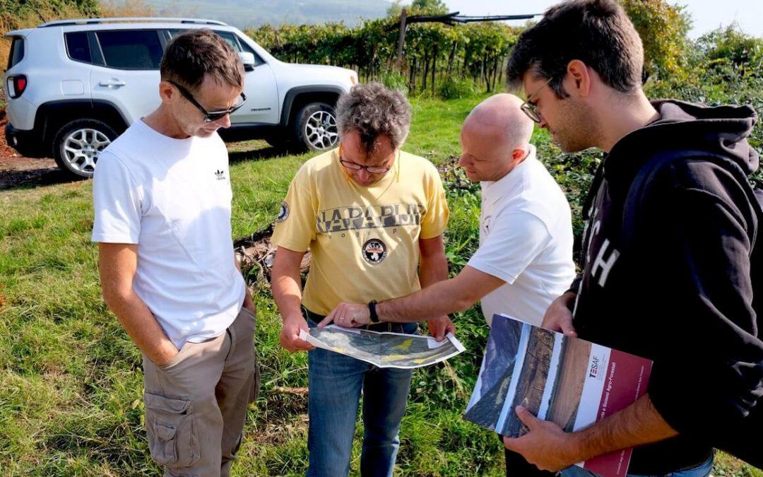 Escursione in campo aree studio monitoraggio deflusso Soave