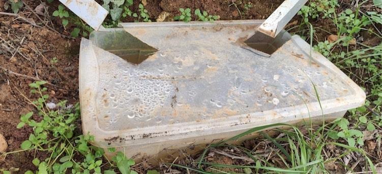 Raccolta e misurazione del runoff/sedimento nel vigneto sperimentale